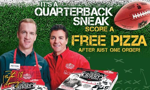 Papa John's and Peyton Manning Welcome Back the NFL Season with a Free Pizza Offer for Fans
