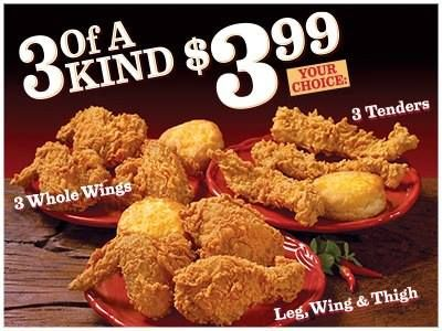 Popeyes Brings Back '3 of a Kind for $3.99'
