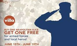 Villa Italian Kitchen Honors Heroes With Salute For Slices