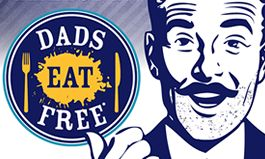Dads Eat Free at Arooga's Grille House & Sports Bar on Father's Day, Sunday June 21