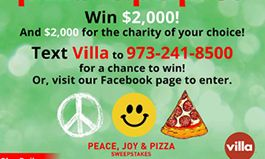 Villa Italian Kitchen Hosts 'Pizza With Purpose' Campaign to Give Back – Peace, Joy & Pizza Sweepstakes Starts Today