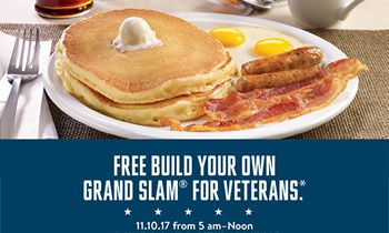 Denny's Honors Servicemen And Women With Veterans Day Observance