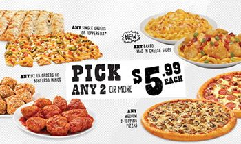 Toppers Pizza Introduces New Line of Baked Mac 'N Cheese, Nacho Topper, Nachostix & Pick 2 or More for $5.99 Value Menu
