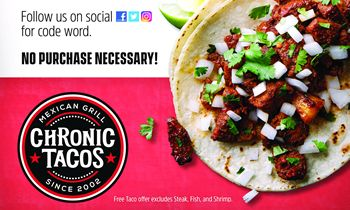 Chronic Tacos Celebrates National Taco Day with Free Tacos on Oct. 4