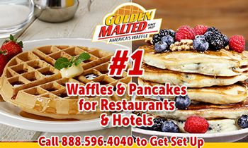 Serve America's Favorite Waffles & Pancakes – #1 Mixes from Golden Malted