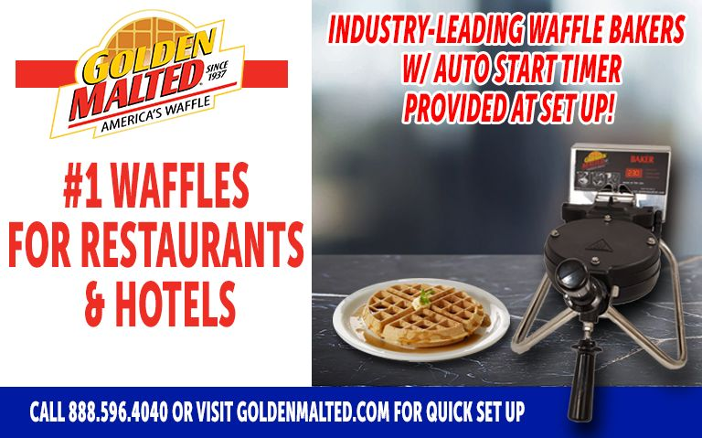 #1 Waffles for Restaurants & Hotels - Golden Malted Provides Waffle Irons with Set Up