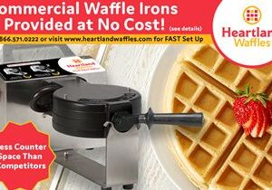 Commercial Waffle Irons Provided at No Cost – Heartland Waffles is Your Answer