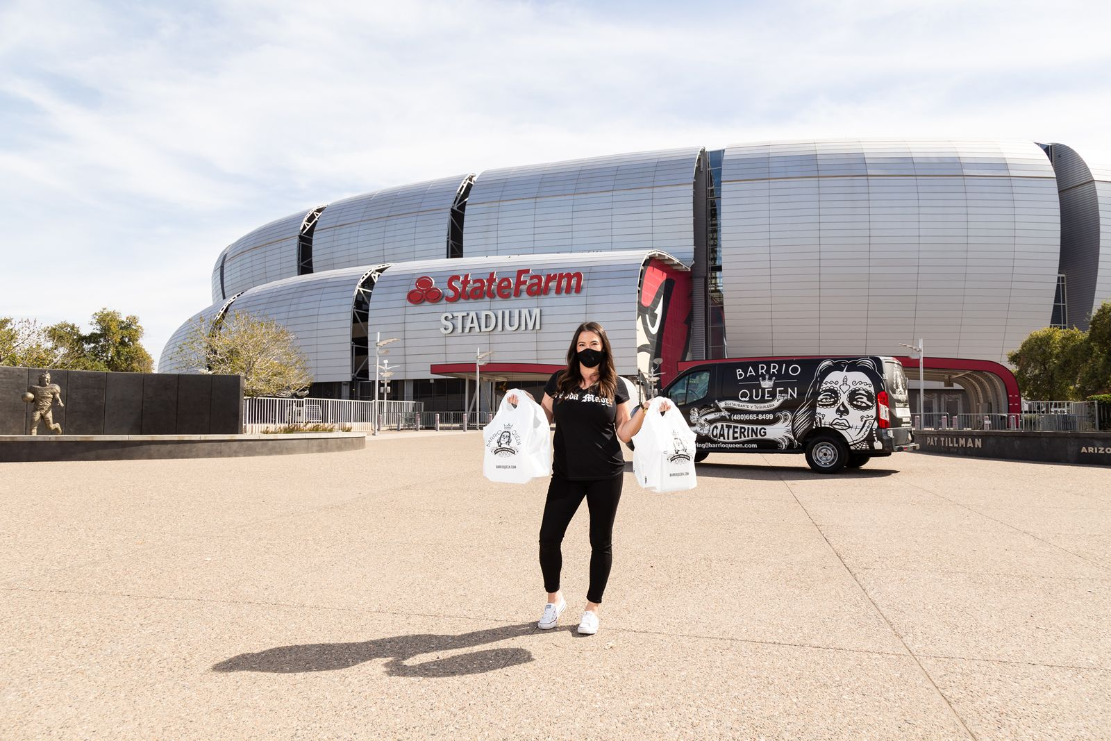 Barrio Queen Continues Helping Amid Pandemic by Donating More Than 400+ Meals at State Farm Stadium