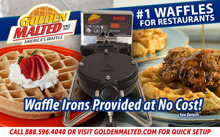 Serve America's #1 Waffles - Golden Malted Provides Waffles at No Cost