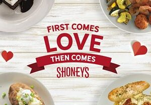 Shoney's To Treat Couples to a '2 Can Dine for $24.99' Experience on Valentine's Day Weekend (Friday, Saturday, Sunday) which Includes a FREE Shareable Dessert