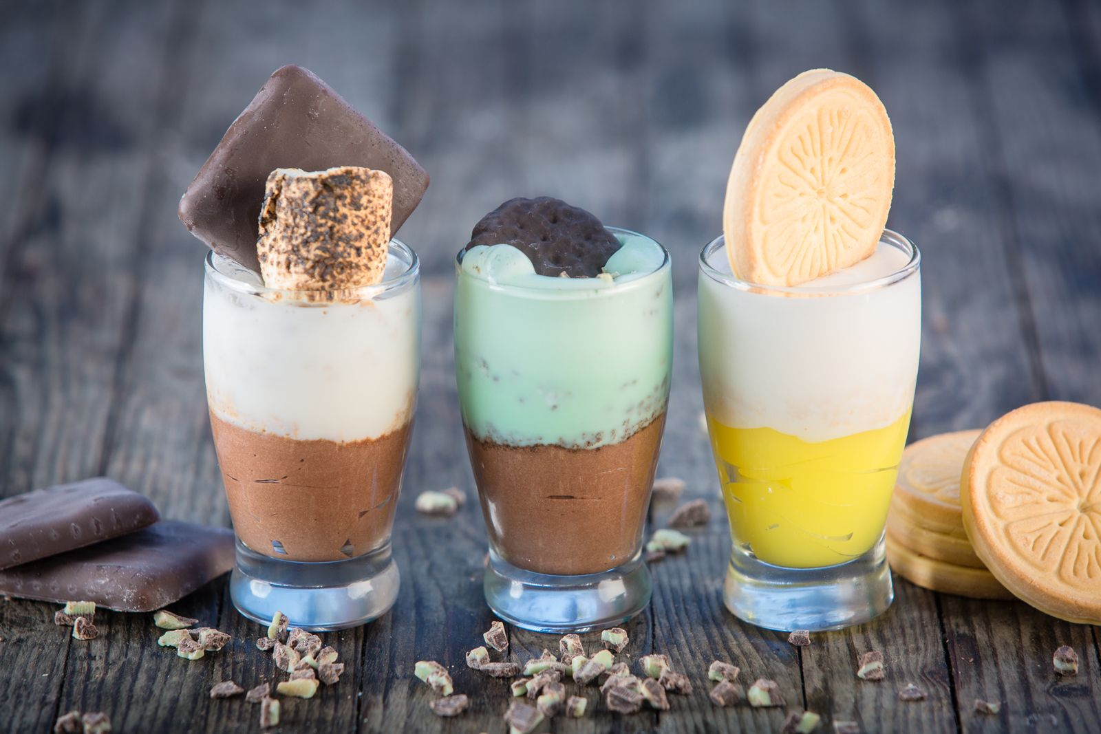 Slater's 50/50 Girl Scout Cookies Dessert trio