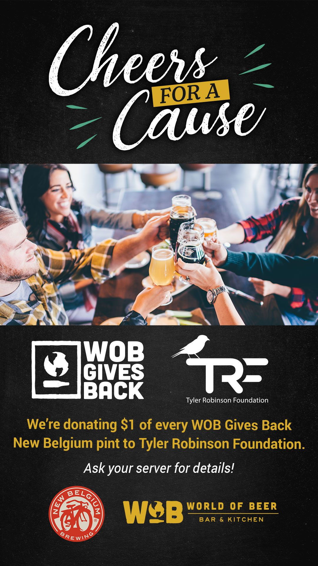 Tyler Robinson Foundation brews a partnership with World of Beer Bar & Kitchen