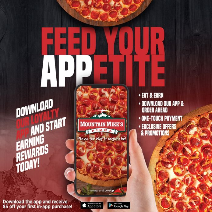 Mountain Mike's Pizza Launches New Loyalty Program & Updated Mobile App