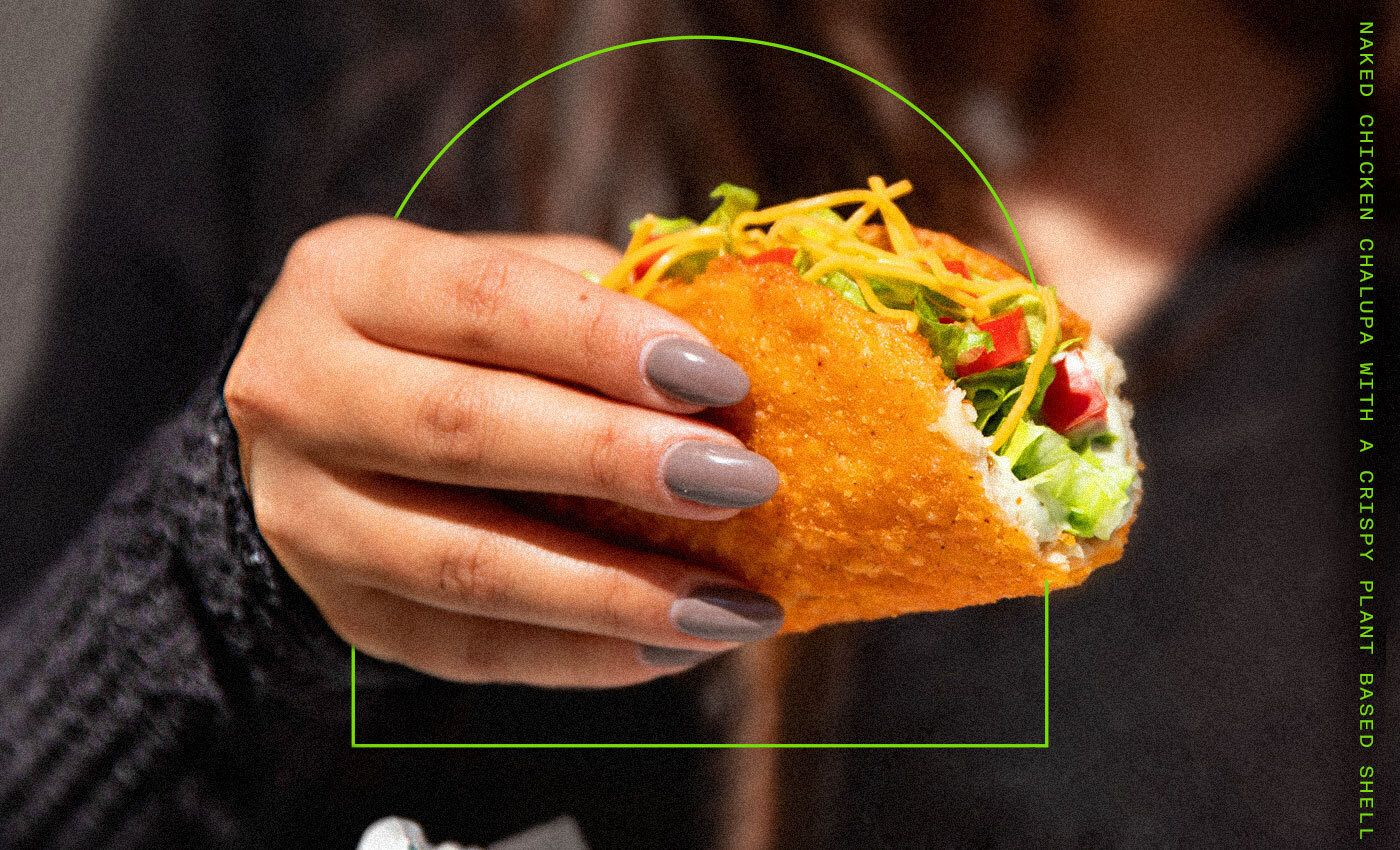 Taco Bell Tests A Naked Chalupa With A Crispy Plant-Based Shell That's More Than Meats The Eye