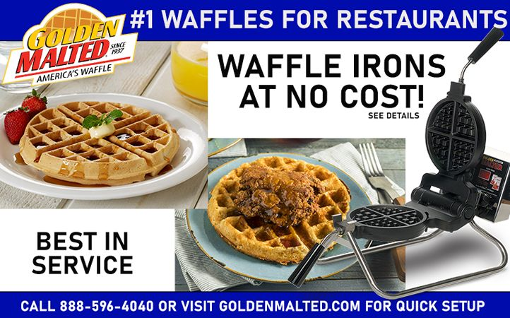 Add America's #1 Waffles to Your Menu - Waffle Irons Provided at No Cost with Golden Malted