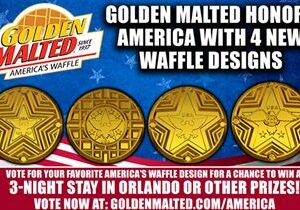 Golden Malted Honors America with 4 New Waffle Designs – Golden Malted is America's #1 Waffle