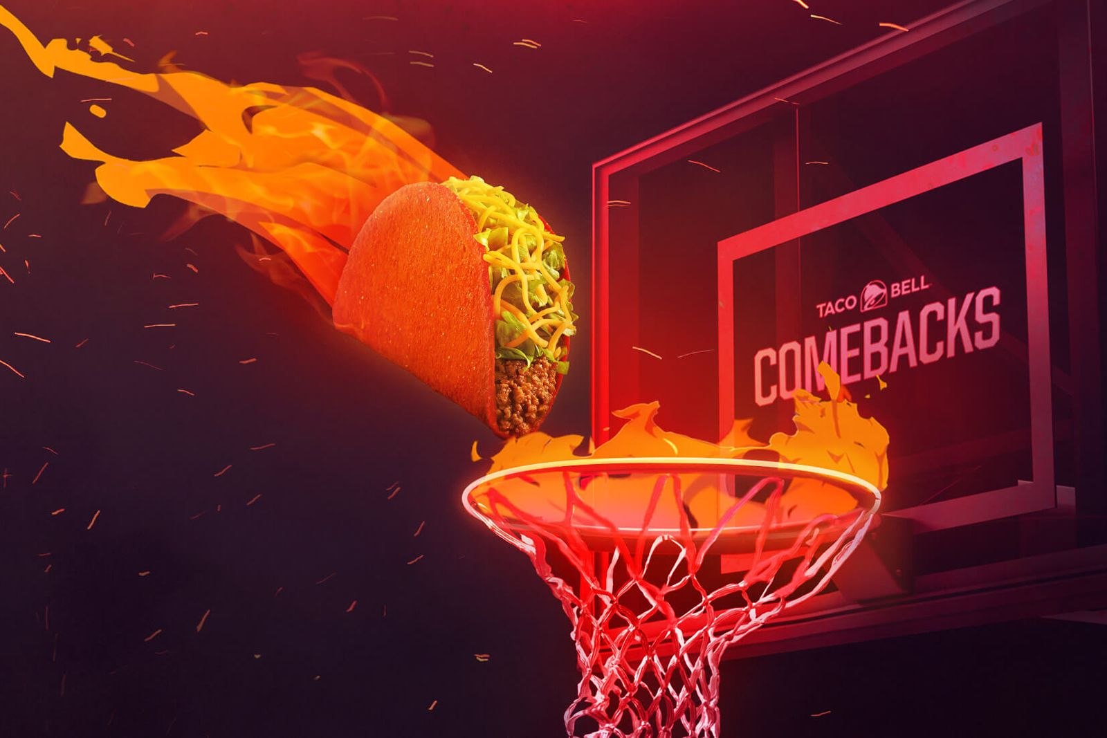 Taco Bell And The NBA Team Up For A Flamin' Hot Comeback During This Year's NBA Finals