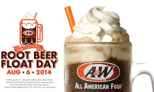 A&W Restaurants Celebrates National Root Beer Float Day On August 6th By Honoring America's Veterans