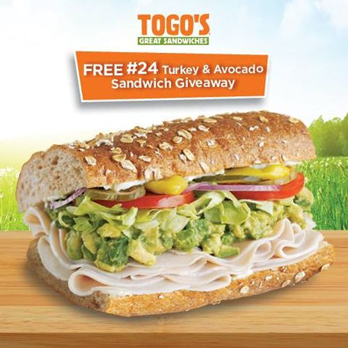 Togo's to Give Away 10,000 Free #24 Turkey & Avocado Sandwiches on 7/24
