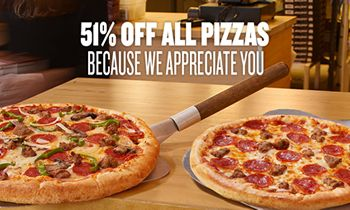Better Than Half Off: Toppers Pizza Celebrates Customer Appreciation Days with 51 Percent Off Deal