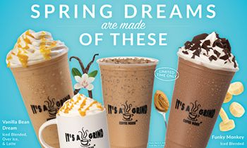 """It's A Grind Coffee House Introduces Its """"Spring Dream"""" Beverage Lineup"""