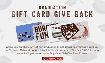 Chipotle Launches New Egift Card Program To Celebrate 2020 Graduates