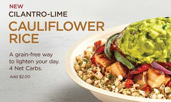 Chipotle To Test New Cilantro-Lime Cauliflower Rice In Select Markets