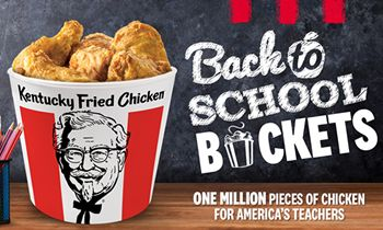 KFC Delivering One Million Pieces Of Kentucky Fried Chicken To Teachers Across America