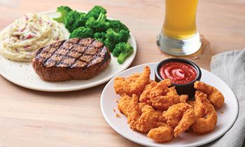 Applebee's Gives Guests More to Love with a Dozen Double Crunch Shrimp for Only $1 with any Steak Entrée