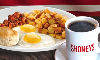 Shoney's Offers FREE All You Care To Eat, Freshly Prepared BREAKFAST BAR for Military on Veterans Day, its Heroes' Holiday, Wednesday, November 11, 2020