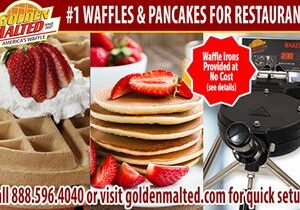 Add America's #1 Waffles & Pancakes to Your Menu – It's Quick & Easy with Golden Malted
