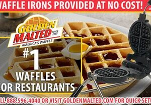 #1 Demanded Waffles for Restaurants – Golden Malted Provides Waffle Irons at Setup