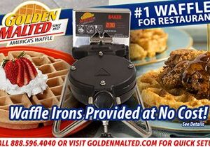 Serve America's #1 Waffles – Golden Malted Provides Waffle Irons at No Cost