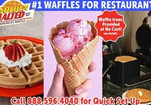Serve America's Favorite Waffles – Golden Malted Provides Waffle Irons at Set Up