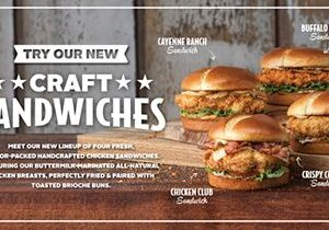 Slim Chickens Launches Craft Sandwiches Systemwide