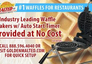 Waffle Irons Provided at No Cost – #1 Waffles for Restaurants – Only with Golden Malted