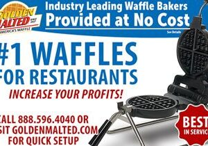Serve America's #1 Waffles – Golden Malted Provides Waffle Irons at Setup