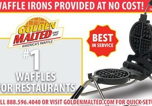 Serve America's Favorite Waffles – Golden Malted Provides Waffle Irons at Setup